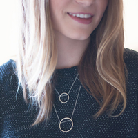 User Generated Content for SLATE Double Drop Circular Pendant Necklace in Silver