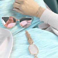 User Generated Content for Kendra Scott Rayne Necklace in Rose Quartz