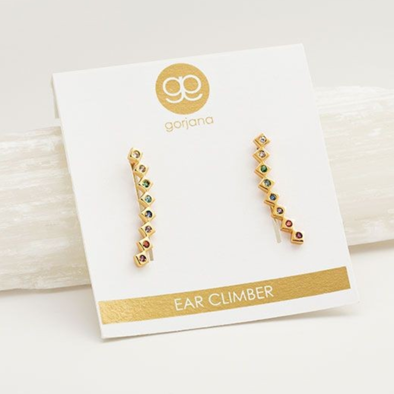 User Generated Content for Gorjana Ryder Shimmer Ear Climbers in Rainbow