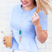 User Generated Content for Kendra Scott Rayne Necklace in Green