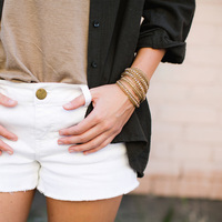 User Generated Content for Nakamol Mixed Crystals Blush & Gold Wrap Bracelet