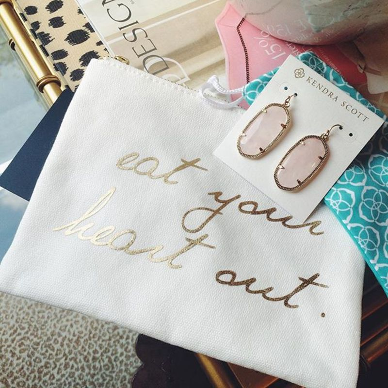 User Generated Content for Kendra Scott Elle Earrings in Rose Quartz