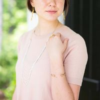 User Generated Content for SLATE White Layered Chain Necklace