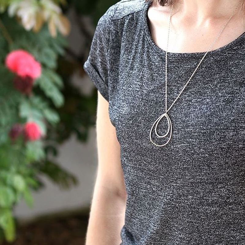 User Generated Content for Sophie Harper Pavé Double Teardrop Pendant Necklace