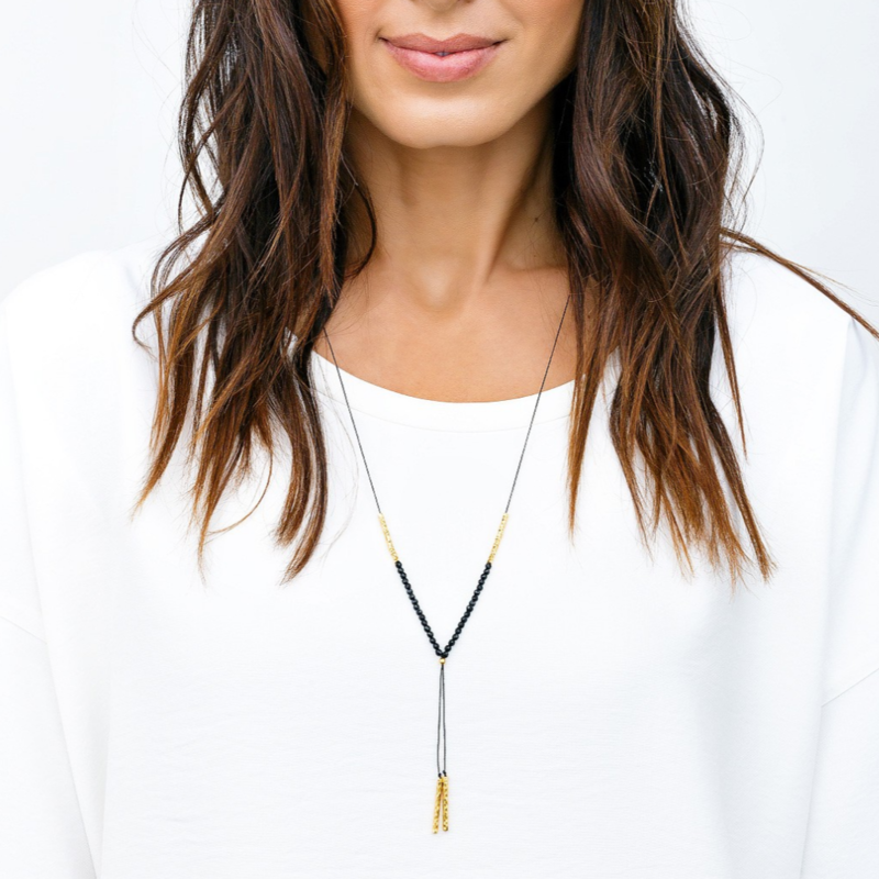 User Generated Content for Gorjana Power Gemstone Necklace in Gold and Black Onyx
