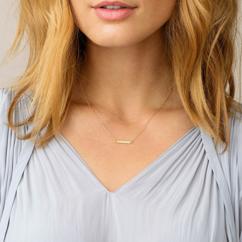 User Generated Content for Gorjana Knox Bar Necklace