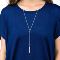 User Generated Content for Gorjana Mave Lariat Necklace in Silver