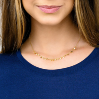 User Generated Content for Gorjana Chloe Mini Necklace in Gold
