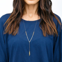 User Generated Content for Gorjana Power Gemstone Necklace in Gold and Pyrite