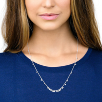 User Generated Content for Gorjana Chloe Mini Long Necklace in Silver