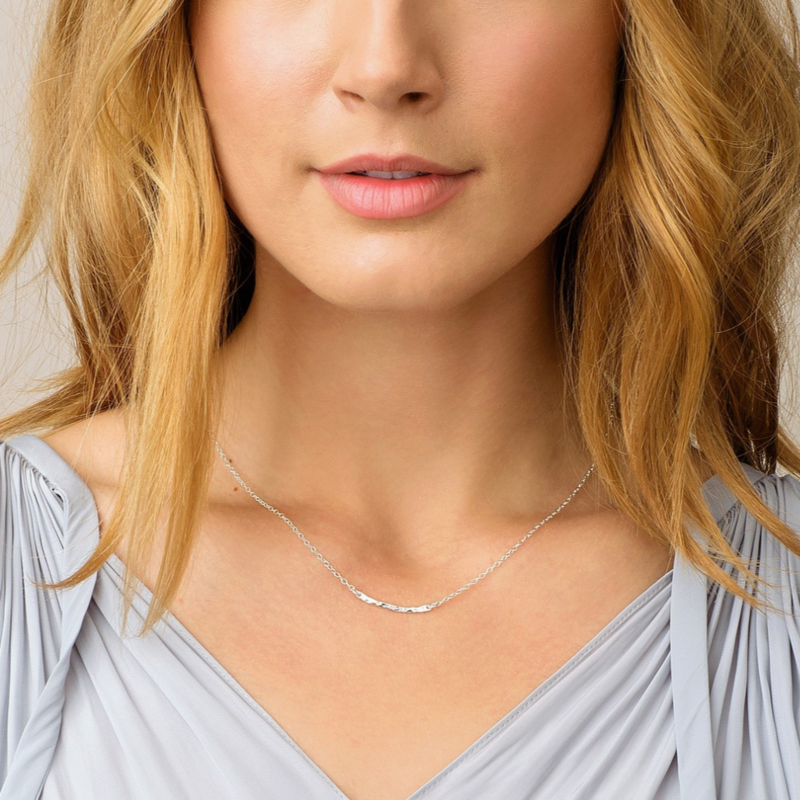 User Generated Content for Gorjana Taner Bar Mini Necklace in Silver