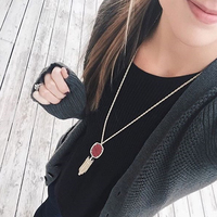 User Generated Content for Kendra Scott Rayne Necklace in Burgundy Illusion