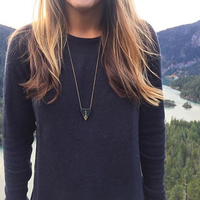 User Generated Content for SLATE Etched in Stone Pendant Necklace in Marbled Green