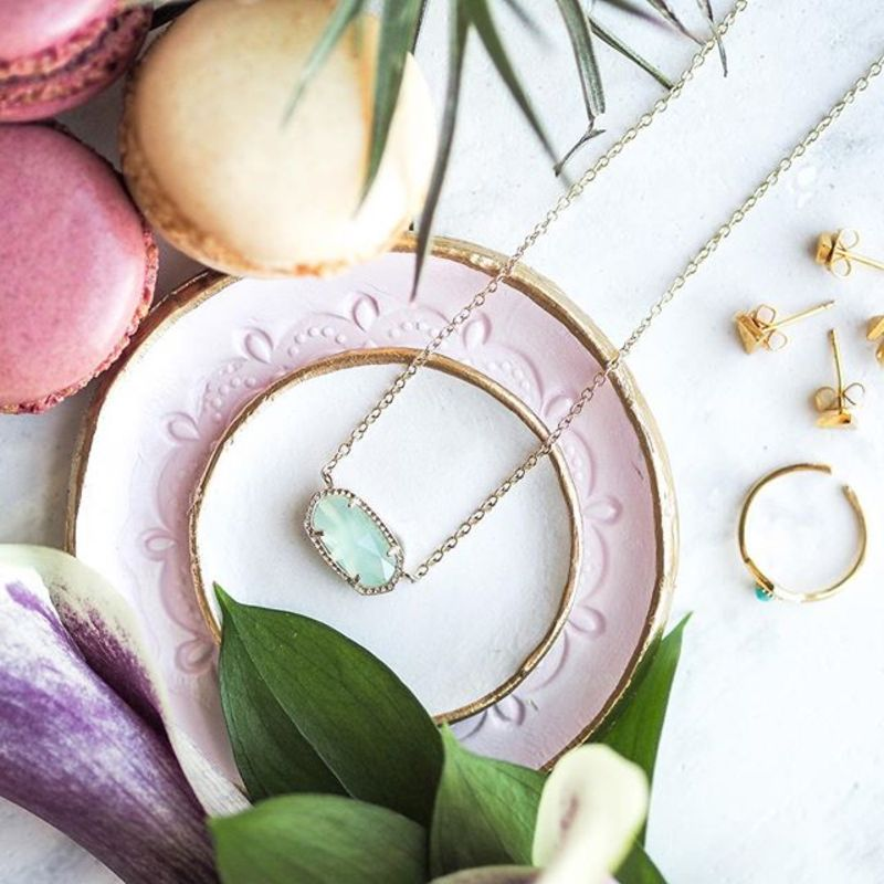 User Generated Content for Kendra Scott Elisa Necklace in Chalcedony