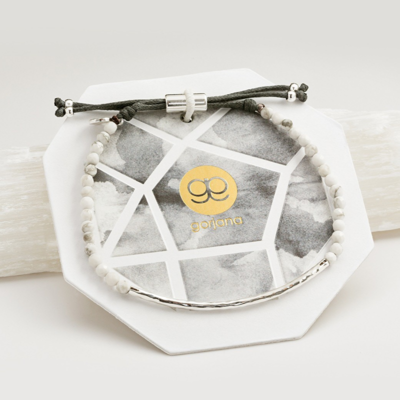 User Generated Content for Gorjana Power Gemstone Bracelet in Silver and Howlite
