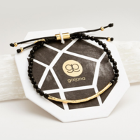 User Generated Content for Gorjana Power Gemstone Bracelet in Black Onyx and Gold