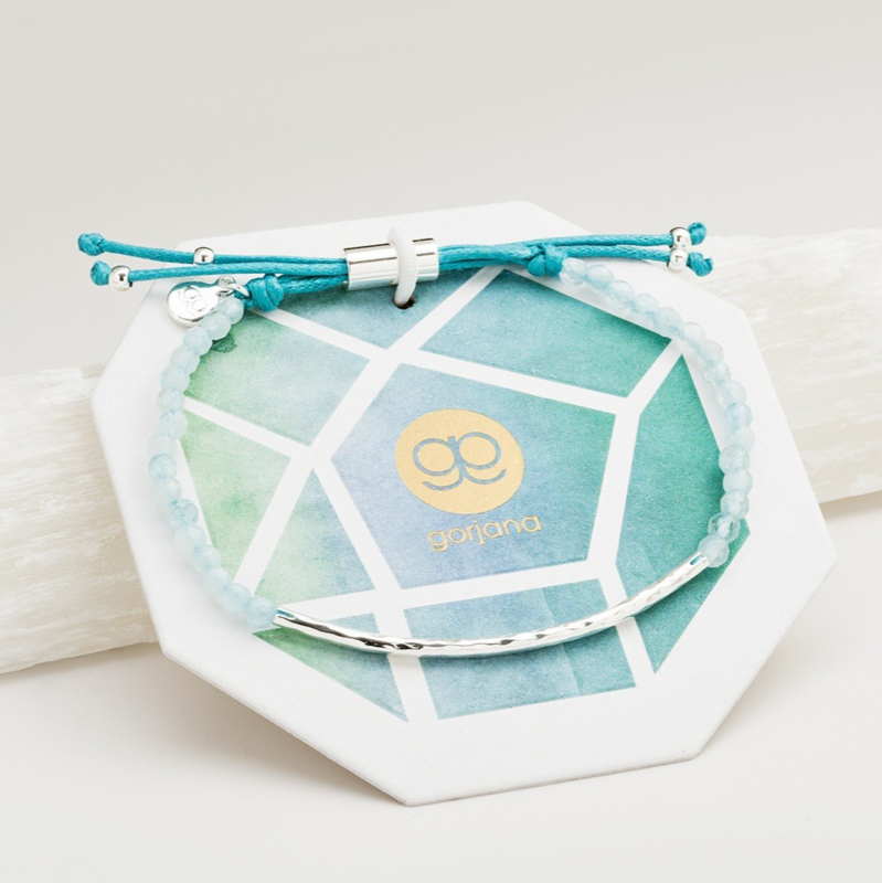 User Generated Content for Gorjana Power Gemstone Bracelet in Aquamarin and Silver