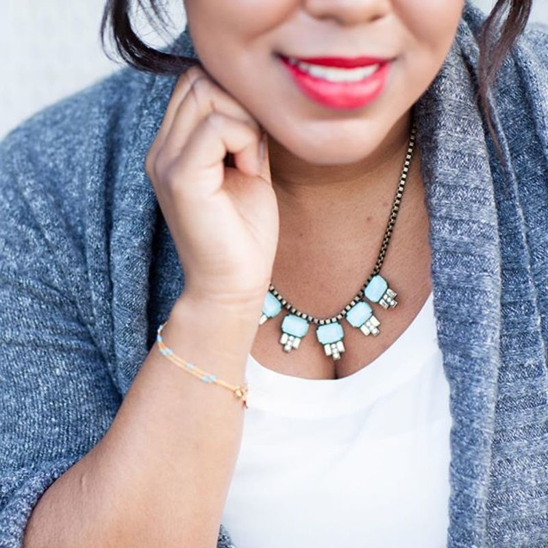 User Generated Content for Loren Hope Alex Petite Necklace in Bay Blue