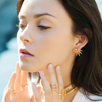 User Generated Content for Anita K Foxy Earrings in Gold