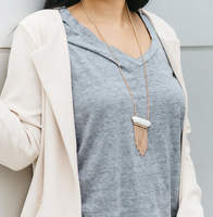 User Generated Content for SLATE Helena Fringe Pendant Necklace