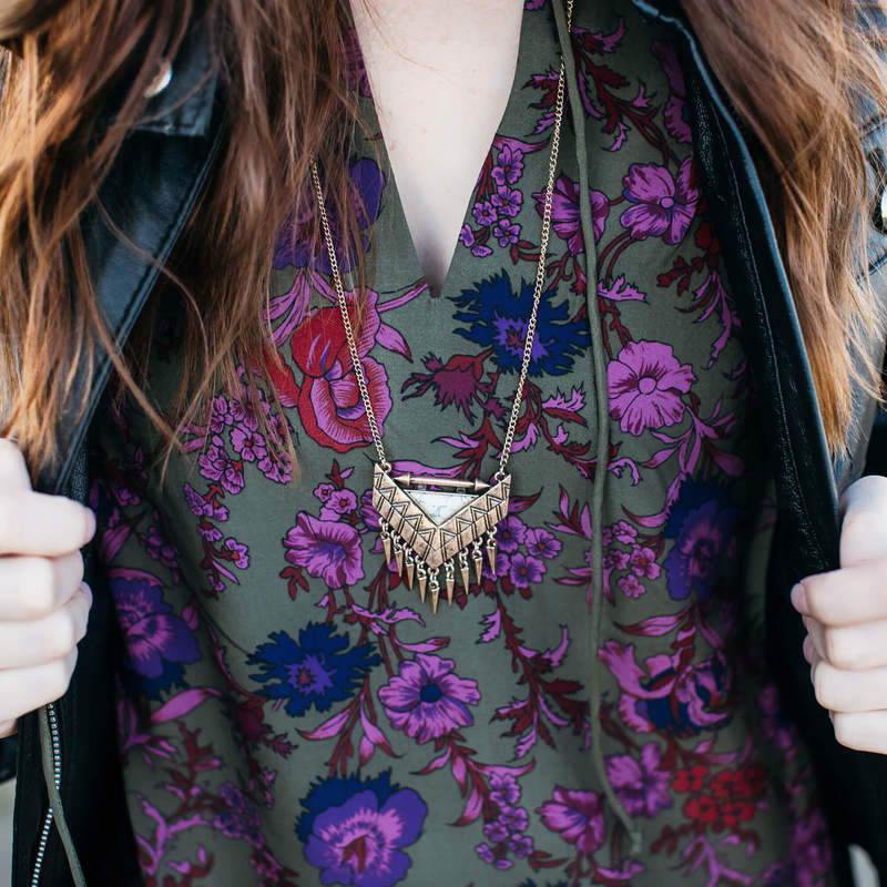 User Generated Content for SLATE Etched Arrow Pendant Necklace