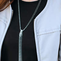 User Generated Content for SLATE Lilly Lariat Necklace in Silver