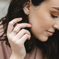 User Generated Content for Sophie Harper Pavé Circle Ring Set in Rose Gold