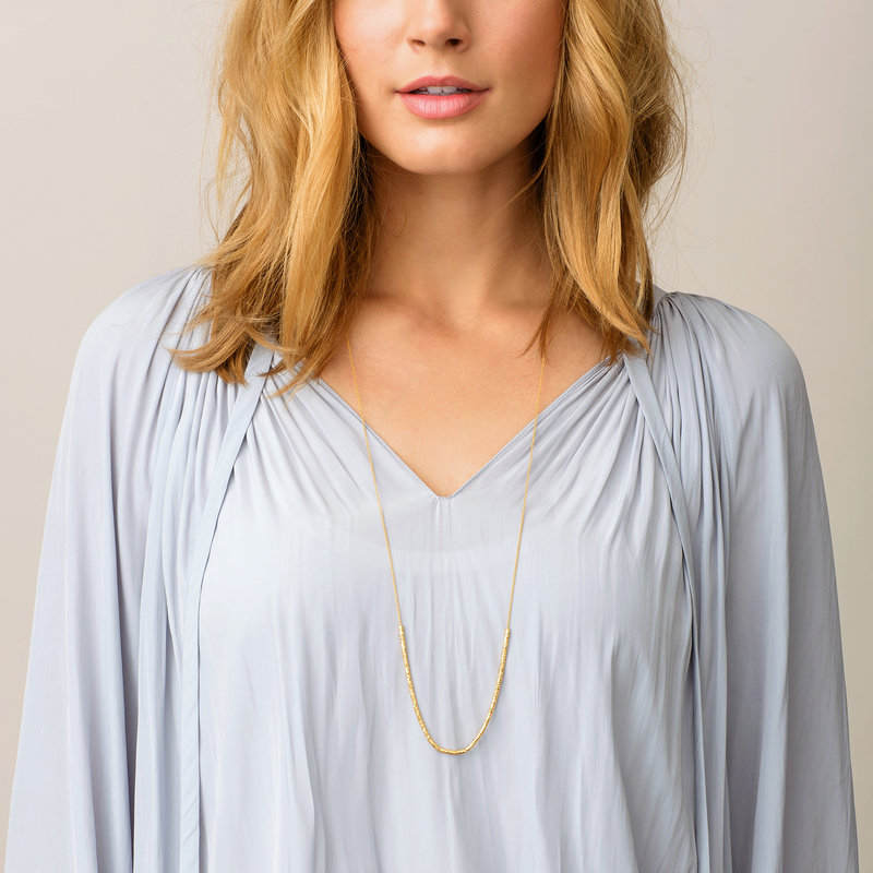 User Generated Content for Gorjana Laguna Adjustable Necklace in Gold