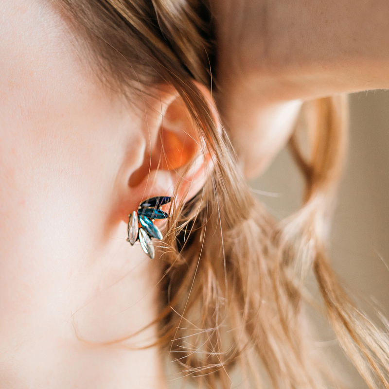 User Generated Content for Perry Street Elyza Ear Climbers in Blue