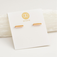 User Generated Content for Gorjana Dez Bar Studs in Gold and Pink Aventurine