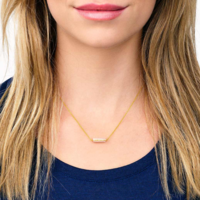 User Generated Content for Gorjana Dez Bar Necklace in Gold and Pink Aventurine
