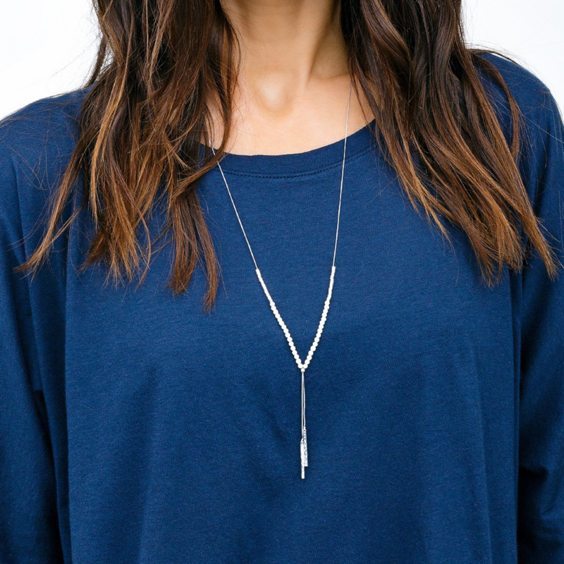 User Generated Content for Gorjana Power Gemstone Necklace in Silver and Howlite