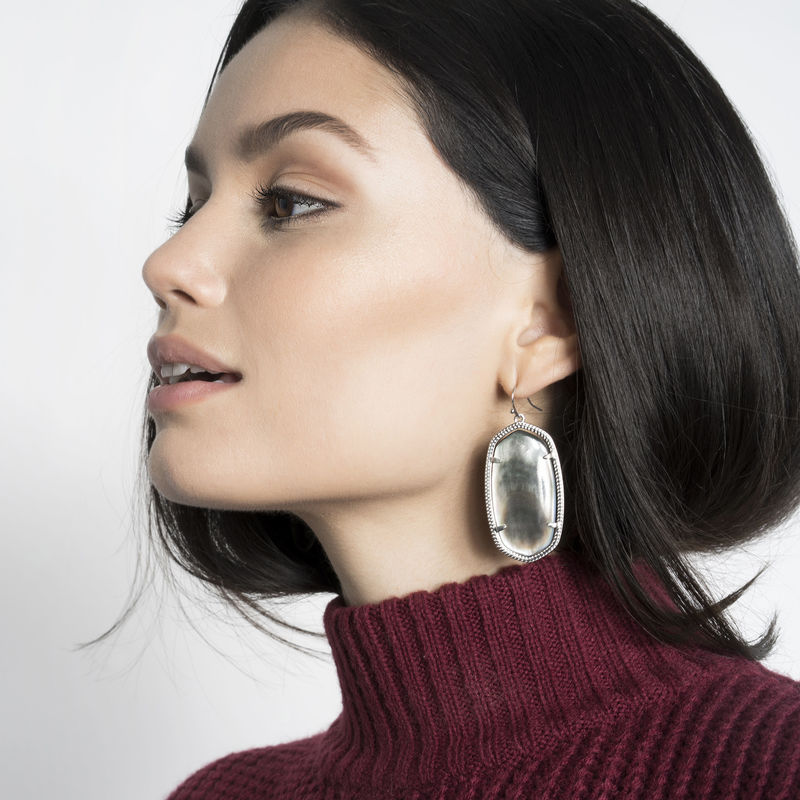 User Generated Content for Kendra Scott Elle Silver Earrings in Black Pearl
