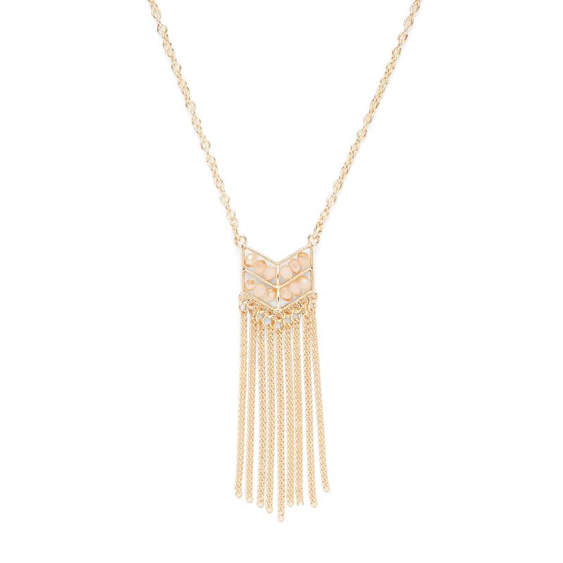 SLATE Layla Fringe Pendant  in Gold