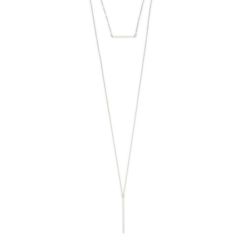 Sophie Harper Bar Layer Necklace in Silver