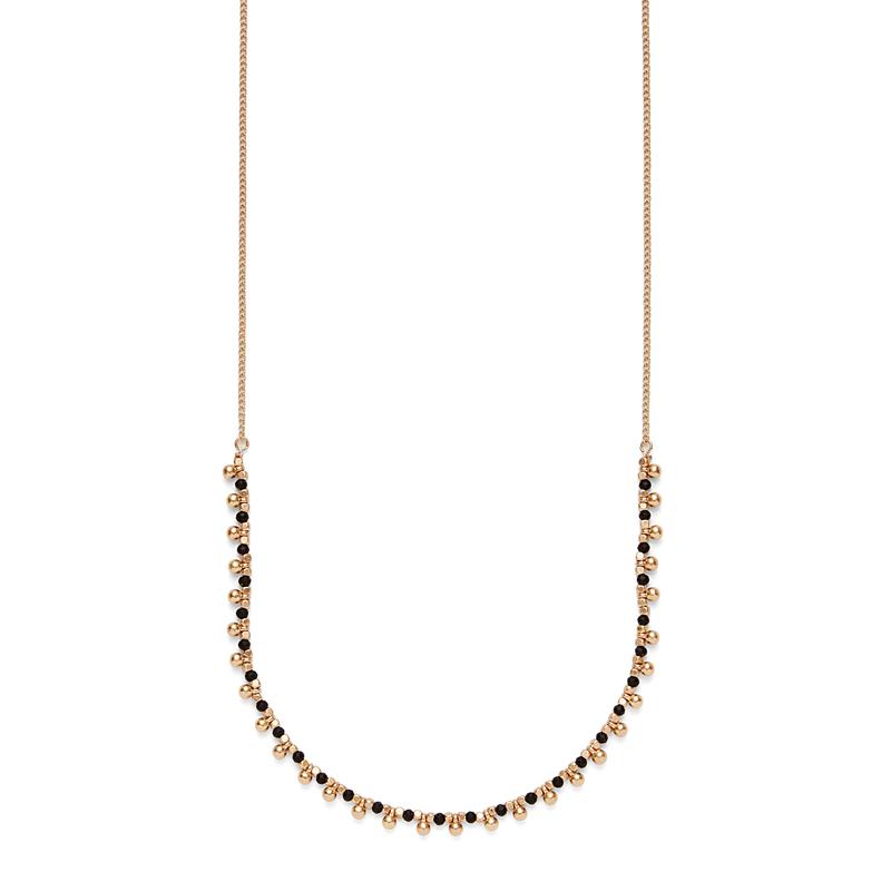 SLATE Sasha Beaded Necklace in Black