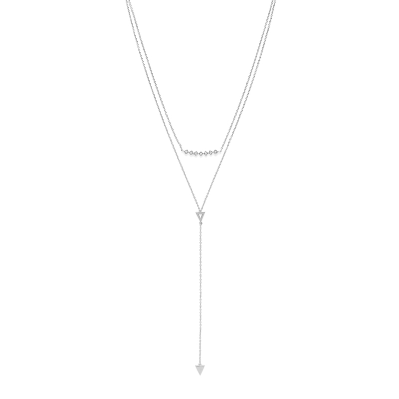Gorjana Mika Layered Lariat Set in Silver