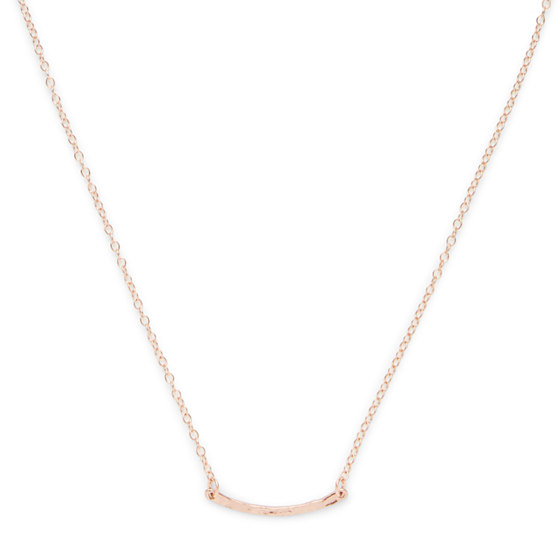 Gorjana Taner Bar Mini Necklace in Rose Gold