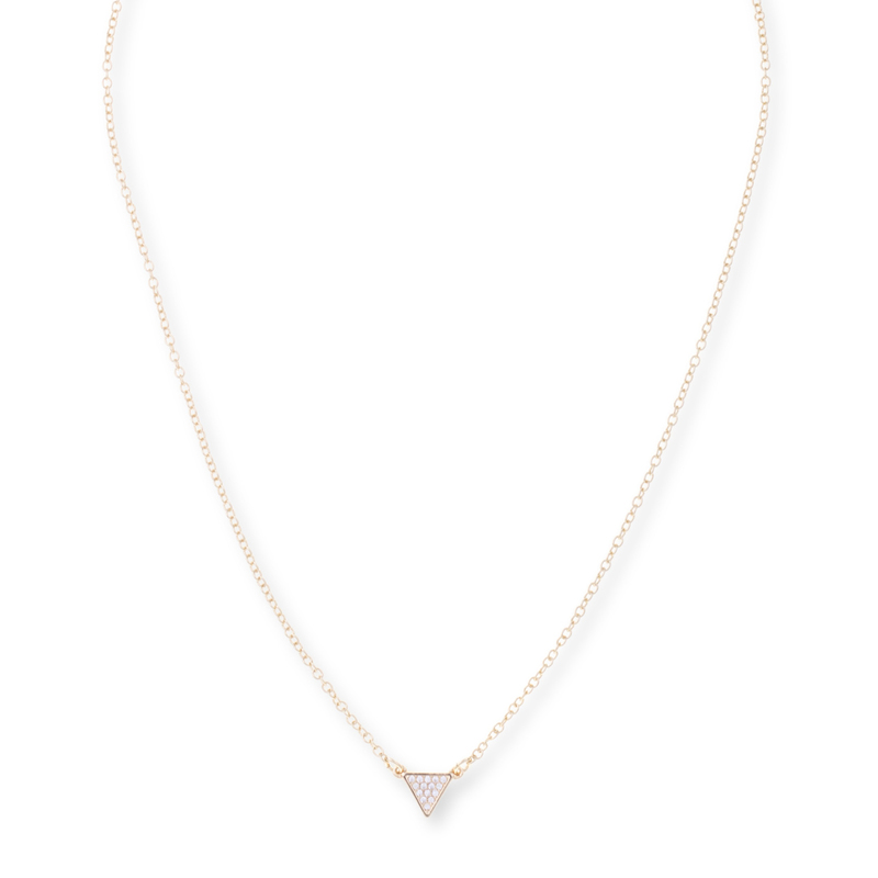 Sophie Harper Pavé Triangle Necklace