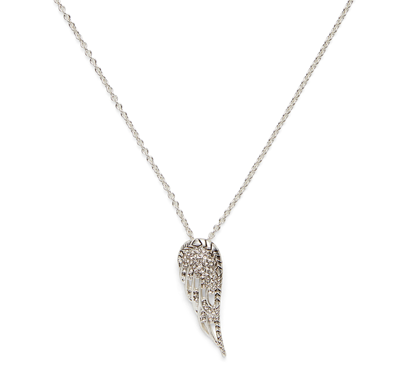 House of Harlow 1960 Aquila Wing Pendant Necklace in Silver