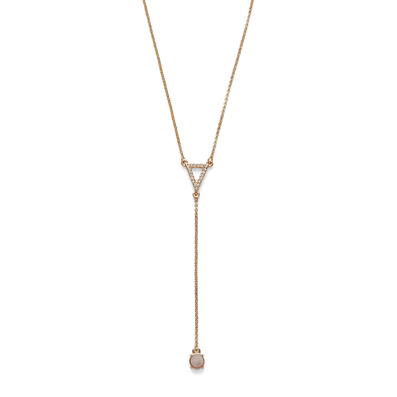 Sophie Harper Pavé Triangle Y Necklace