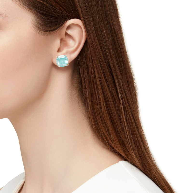 Model Content for Kate Spade Square Studs in Mint