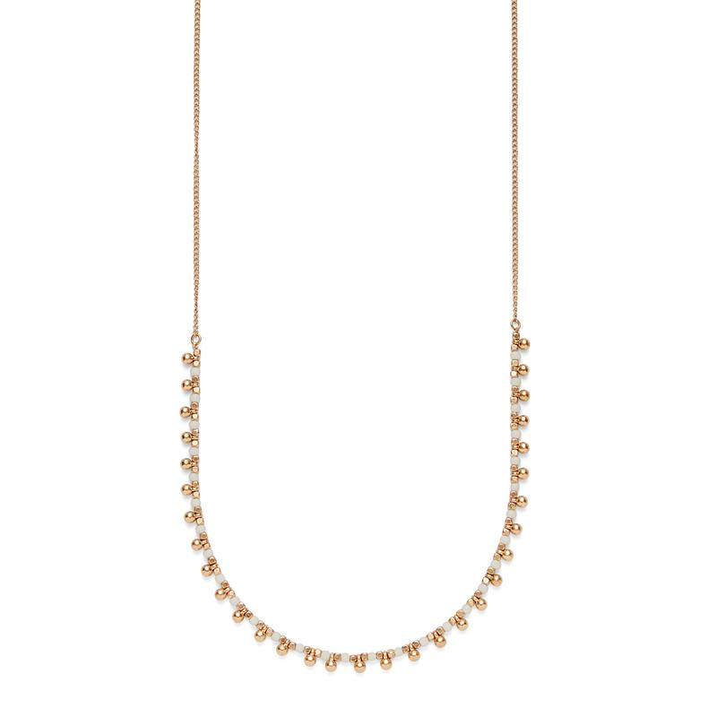 SLATE Sasha Beaded Necklace in White