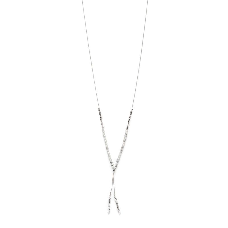 Gorjana Power Gemstone Necklace in Silver and Howlite