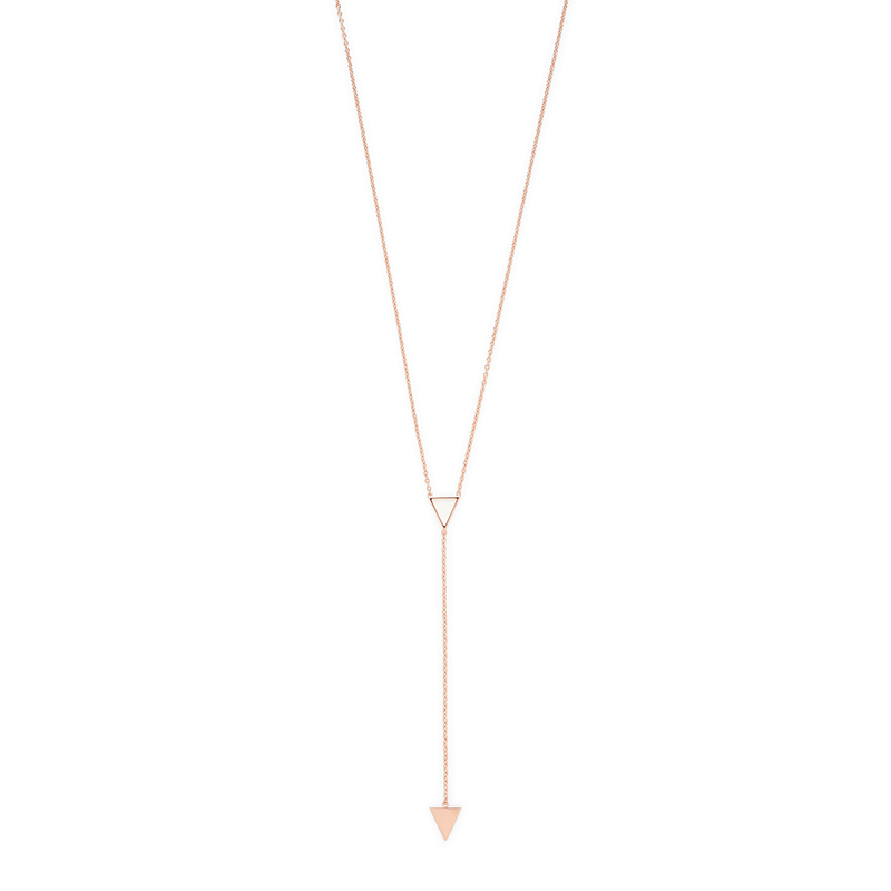 Gorjana Mika Lariat in Rose Gold