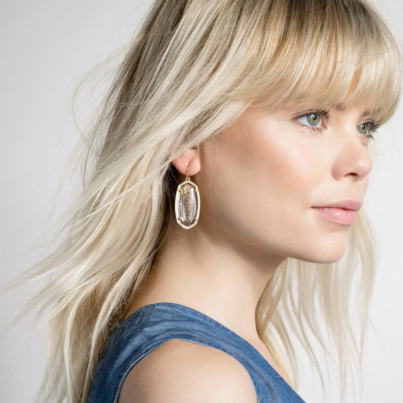 User Generated Content for Kendra Scott Elle Earrings in Gold Dusted Glass