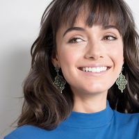 User Generated Content for Kendra Scott Renee Earrings in Antique Silver with Pave
