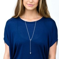 User Generated Content for Gorjana Mika Lariat Necklace in Silver
