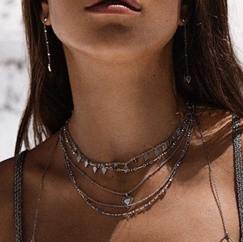 User Generated Content for Luv AJ Moonstone Multi Chain Necklace in Silver
