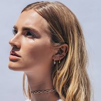 User Generated Content for Luv AJ Pavé Hex Ear Cuff in Gold